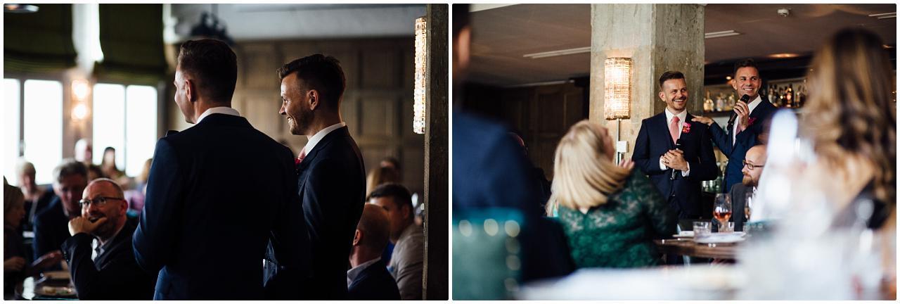 Die Bräutigame halten eine Rede