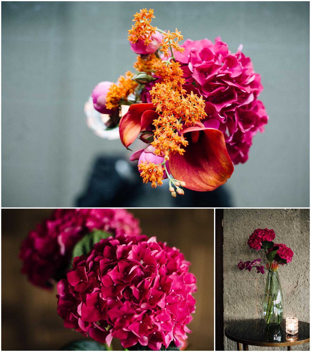 Die Blumendeko der Hochzeit im Soho House