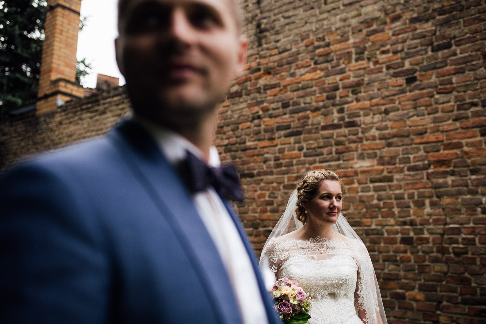 Brautpaar in Fredersdorf bei Berlin