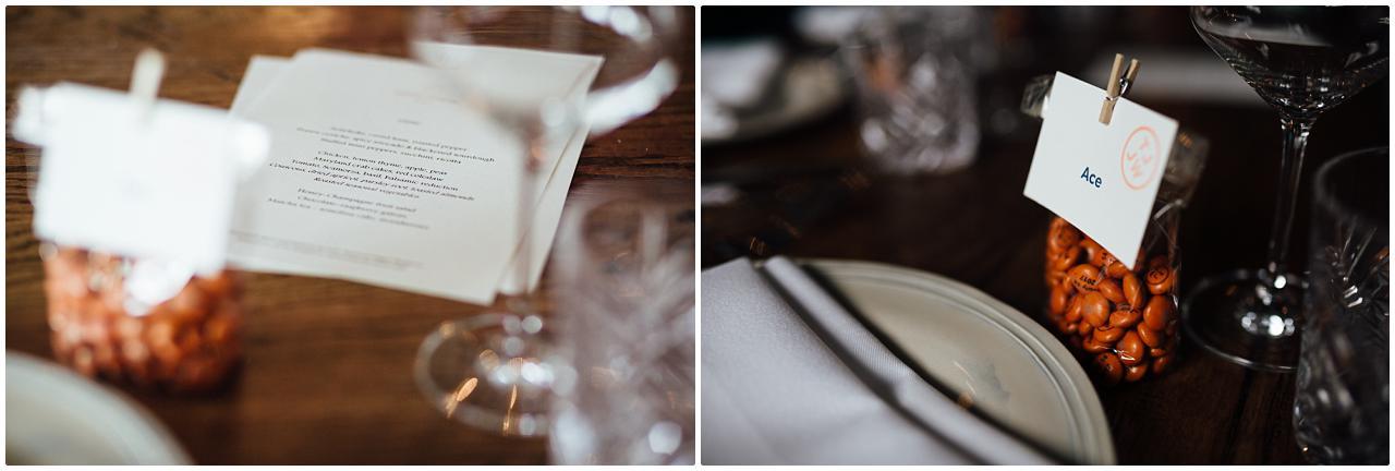 Detailaufnahmen der Tischdeko im Soho House