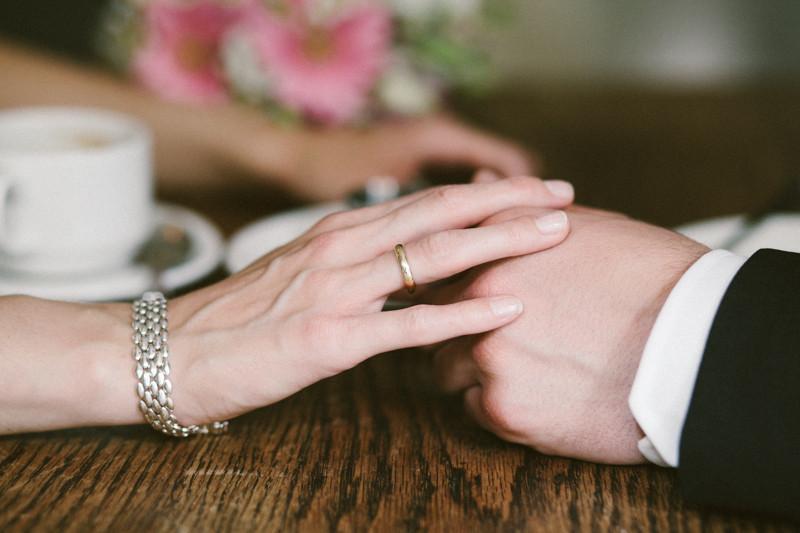 Detailaufnahme der Hände