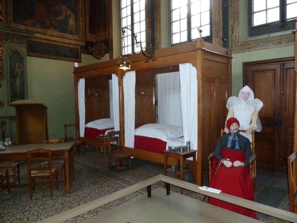 ..so war dort das Krankenzimmer im Mittelalter