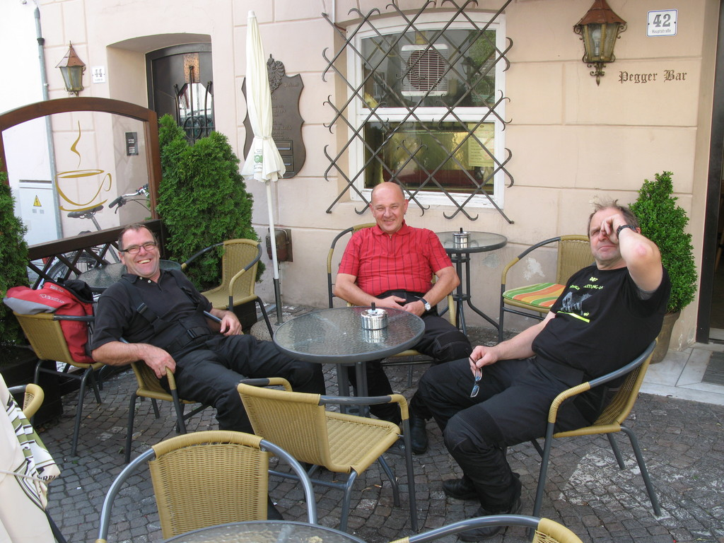 Kaffeepause in Laatsch, Vinschgau