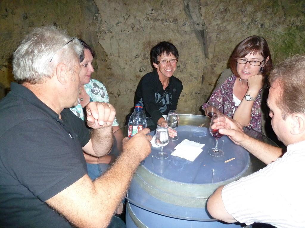 ...abends bei der Weinprobe