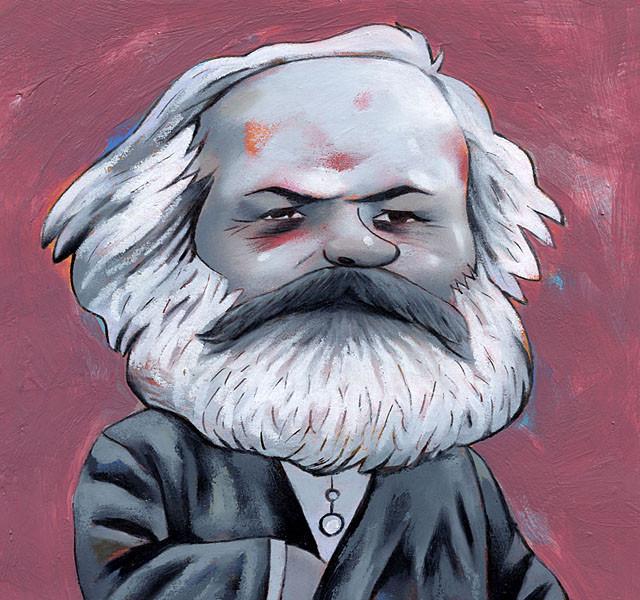 L'Hebdo. Portraits de crise, Marx. © 2009