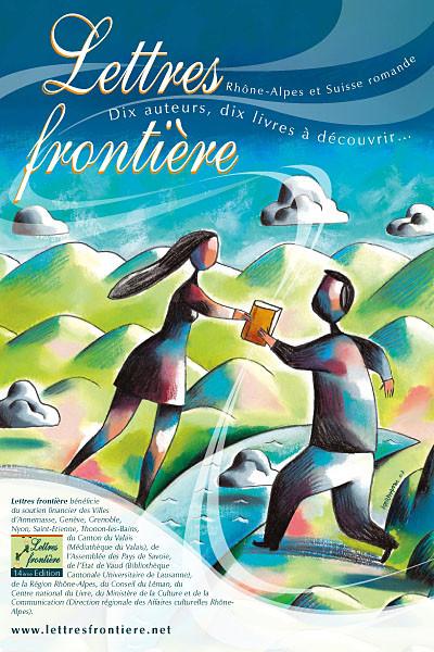 Visuel d'affiche pour Lettres Frontière. ©2007