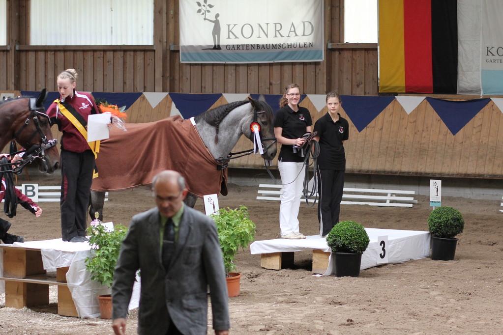 Pfalzmeisterschaft Einzelvoltigieren Junioren Platz 3: Karin Lehmann