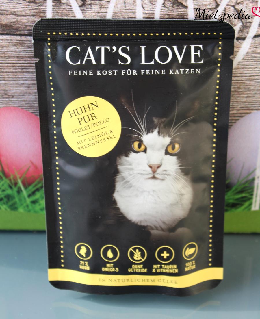 """Das Nassfutter von Cat's Love mit """"Huhn pur"""""""