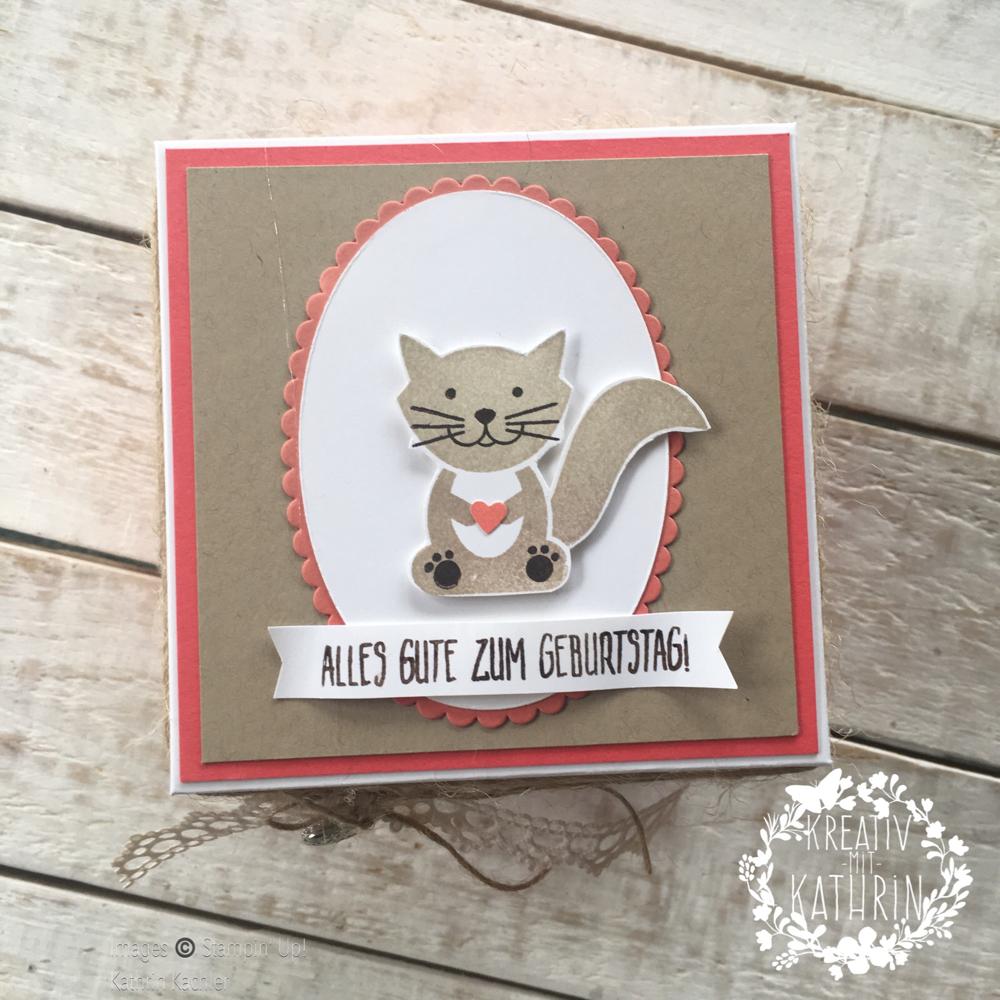 Geschenk fur katzenliebhaber basteln