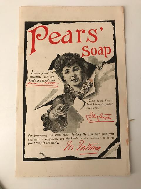 Lillie Langtry pubblicizza il sapone Pears fine '800