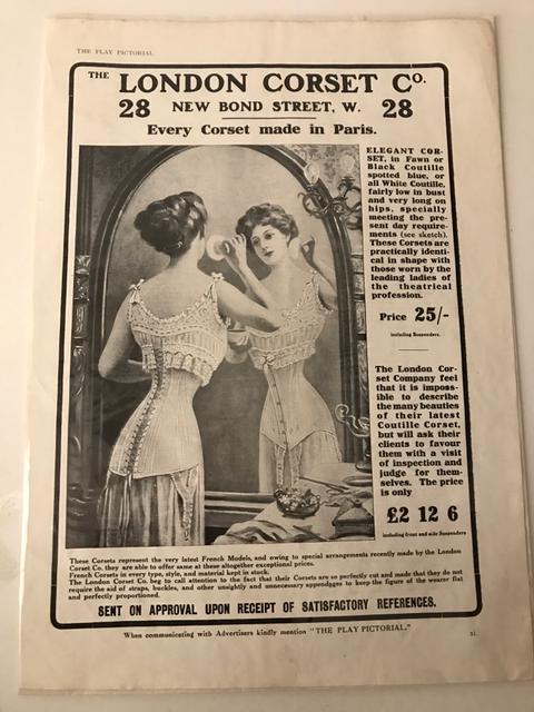 Il nuovo stile di corsetti segna l'inizio di una nuova epoca - 1909