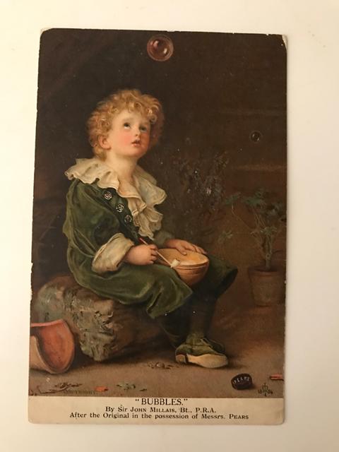 Cartolina pubblicitaria del sapone Pears fine '800