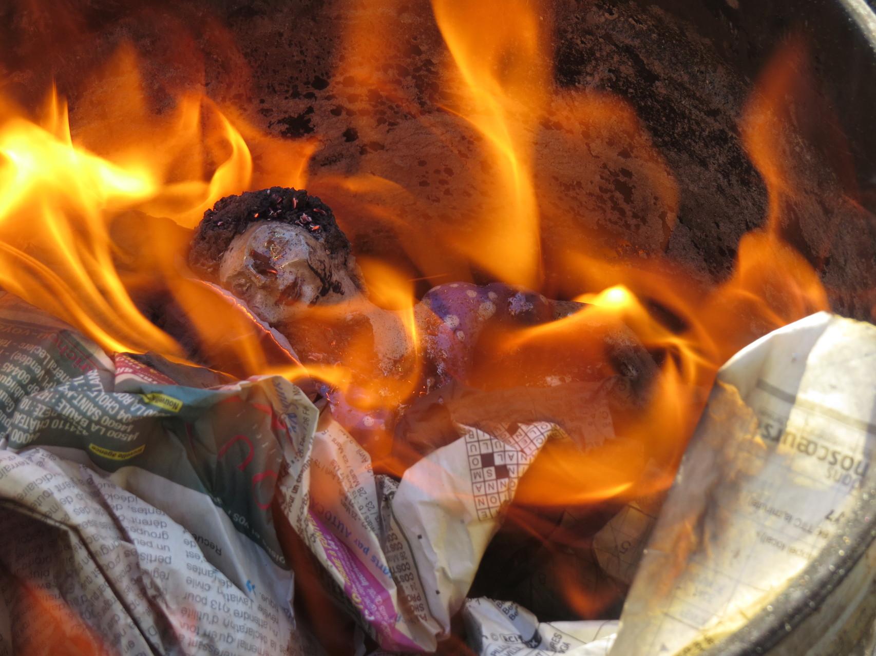 finition feu de bois