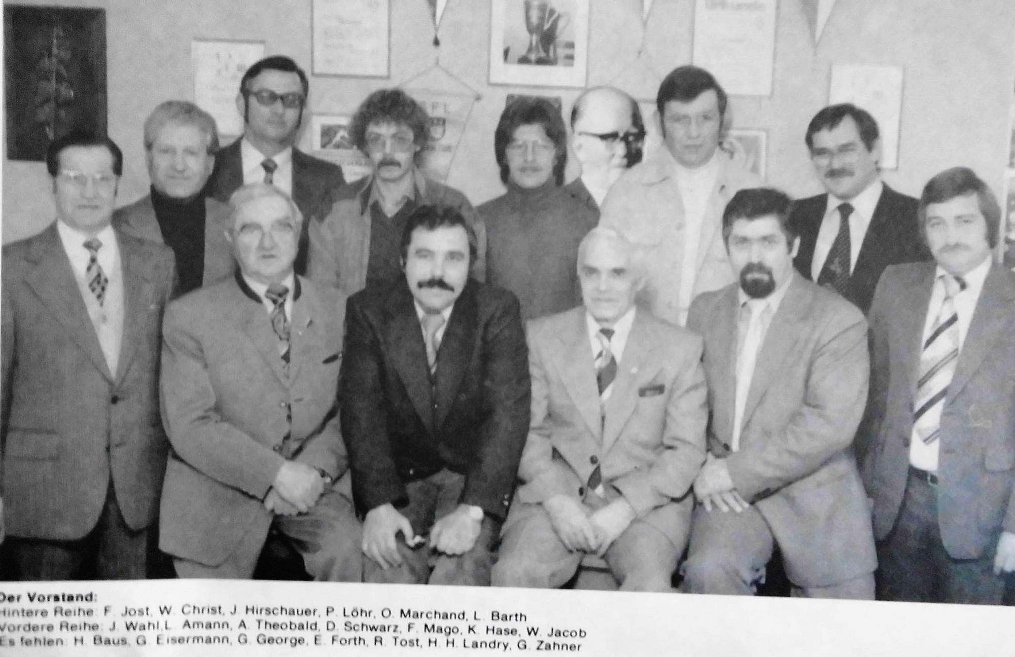 Vorstand von der TuS / 1970er-80er Jahre
