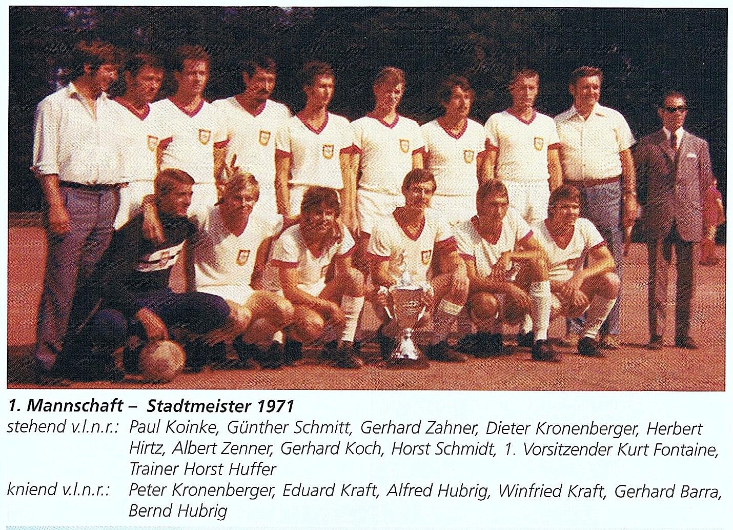Aktive - Stadtmeister 1971