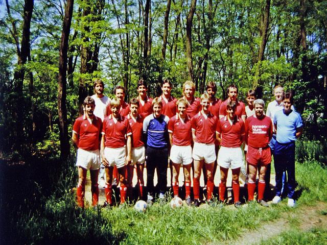 1. Mannschaft Ende 80er Jahre