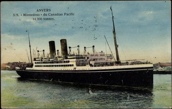 Carl Schaschko, 11. Okt. 1923 Ankunft in Montreal, Canada mit der SS MINNEDOSA