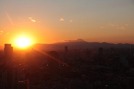 太陽が沈み始めて