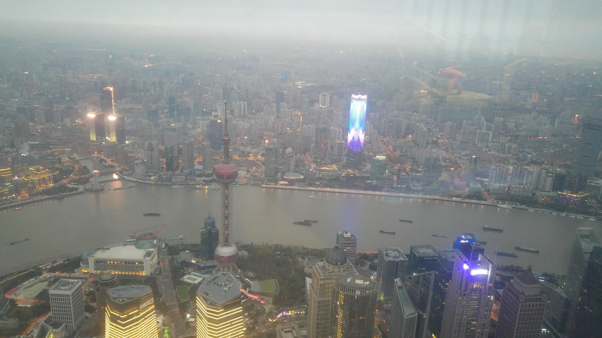 Dieses Bild wurde in 500m Höhe geschossen - weit reicht der Blick durch die dreckige Luft trotzdem nicht