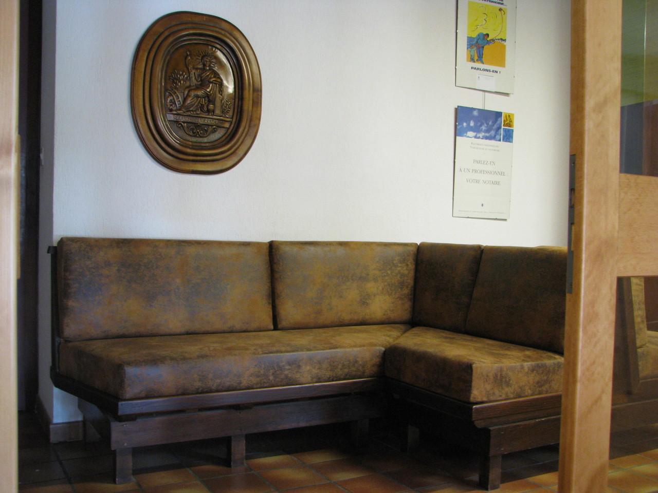 Housse de canapé cuir vieilli classé M1