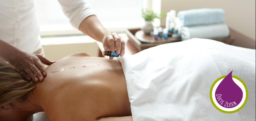 Raindrop Technik, entspannende Massage mit ätherischen Ölen