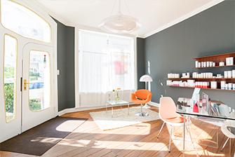 Raumansicht des Kosmetikzimmers in Hamburg