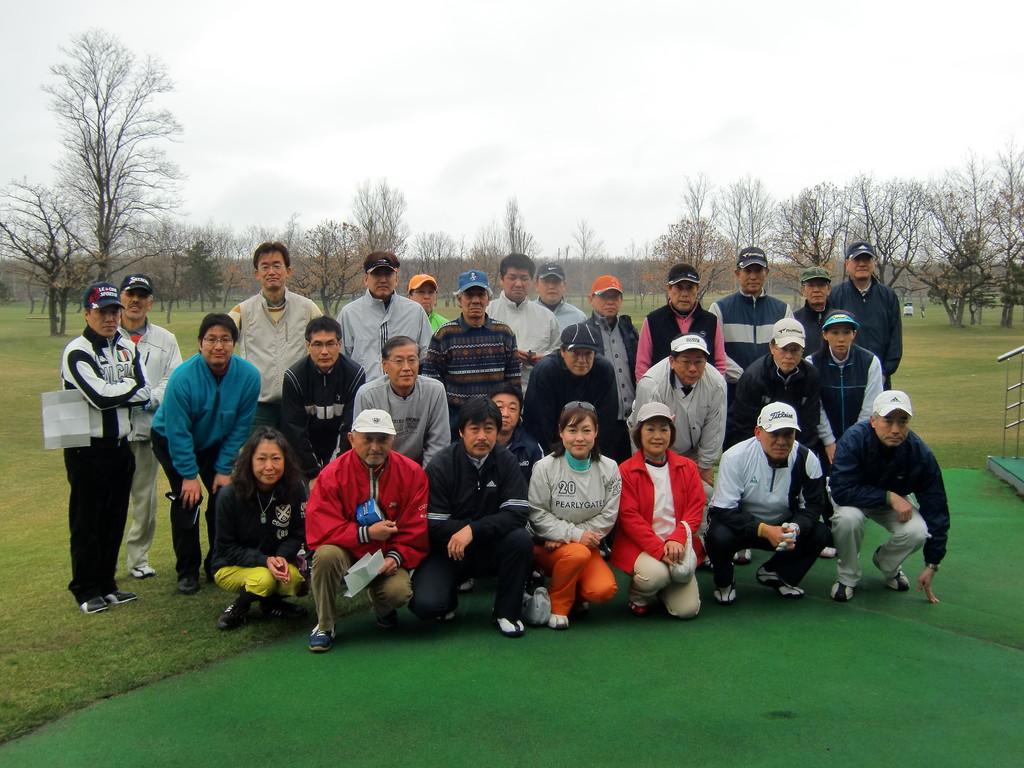 ゴルフコンペ 全員集合!小樽カントリー倶楽部