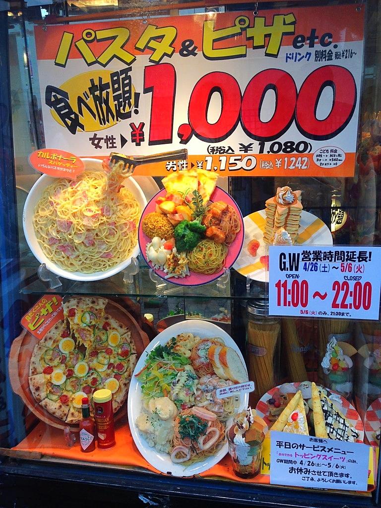 Devanture de restaurant : Le Japon grand Fan de plat en plastique aussi vrai que nature !