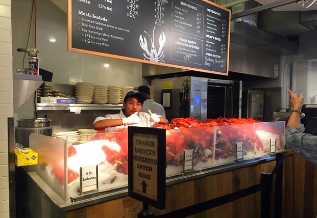 Stand (d'énormes) Lobster au Chelsea Market