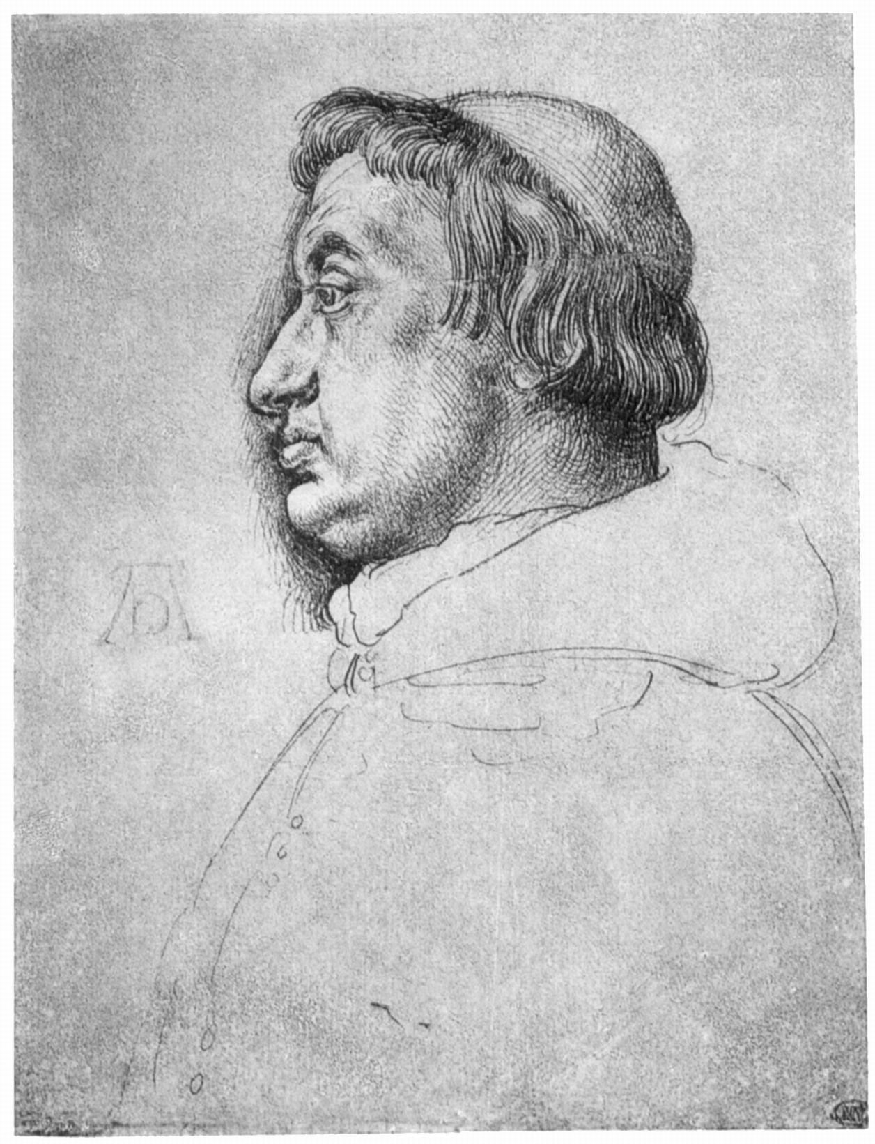 Porträt des Kardinals Albrecht von Brandenburg