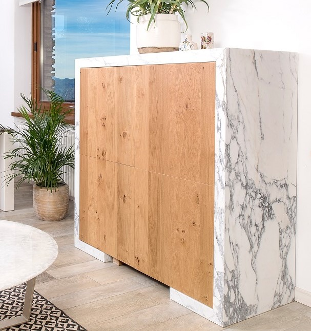 Oak and Calacatta marble - Pure Natural Design