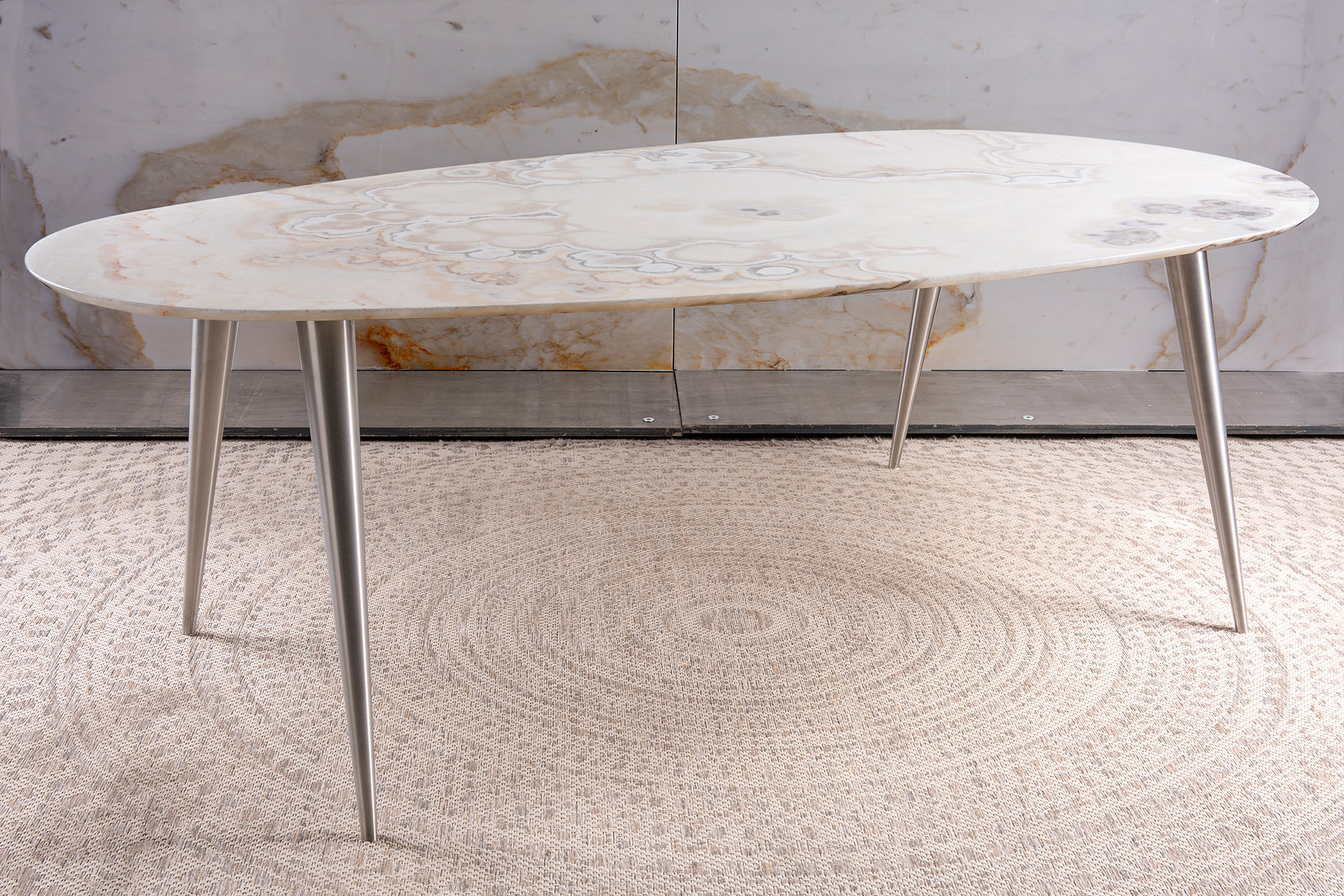 Ivory Onyx dining table