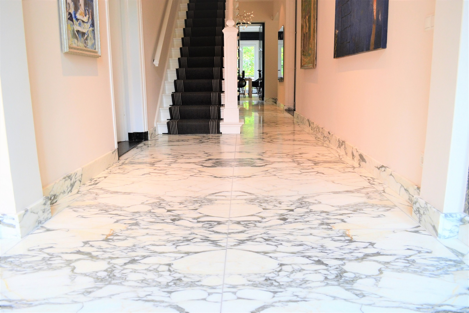 Top quality Arabescato marble in book match