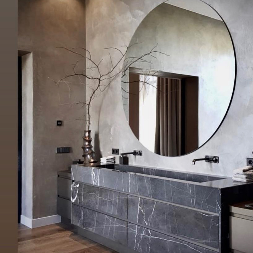 Grafite marble bathroom element