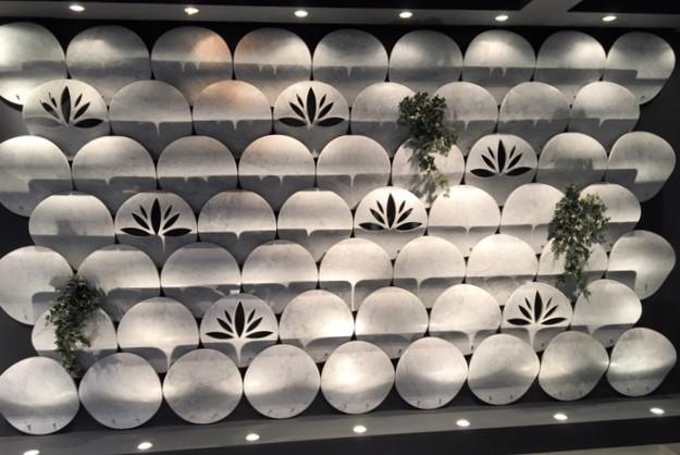Aparte wanddecoratie in Bianco Carrara