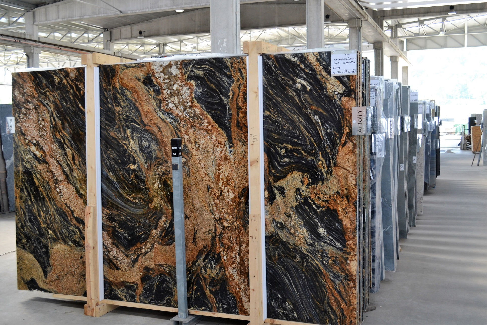 We ship slabs and finished natural stone products...