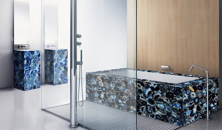 Blue Agate bathroom