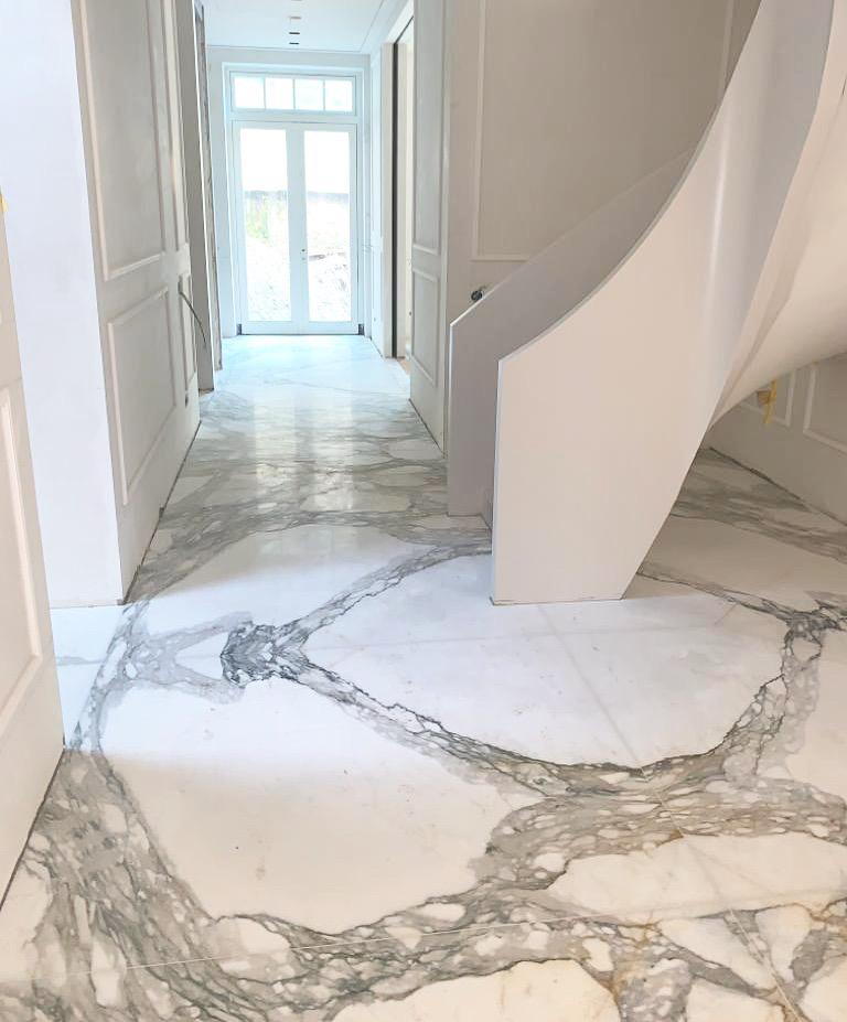 Calacatta marble in book match