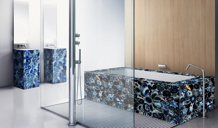 Blue Agate bathroom