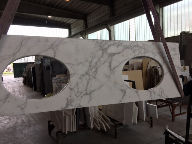 We also made vanity tops for the same project