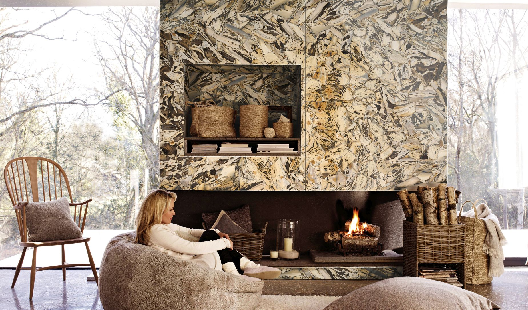 Jasper Zebra fire place