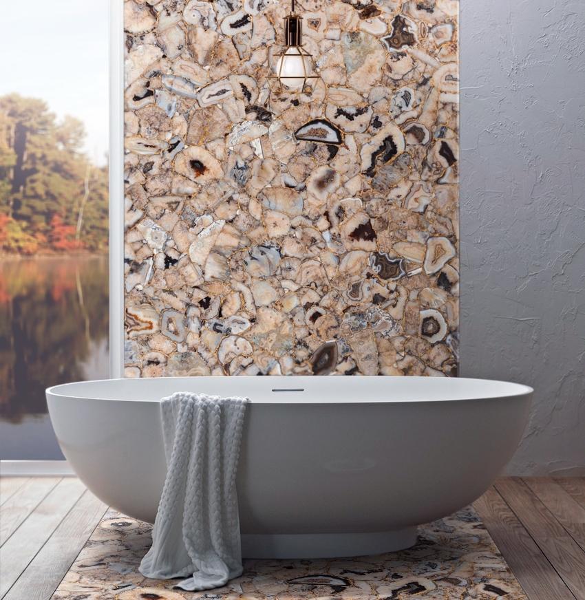 Agate decorative wall