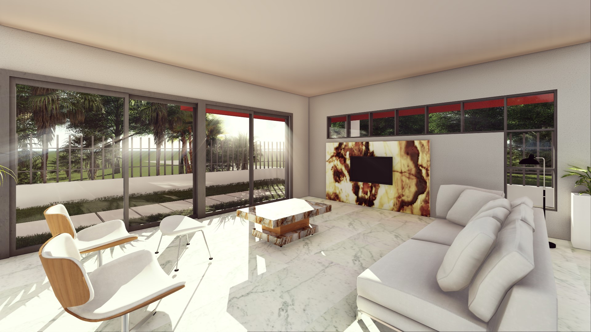 Bianco Carrara living