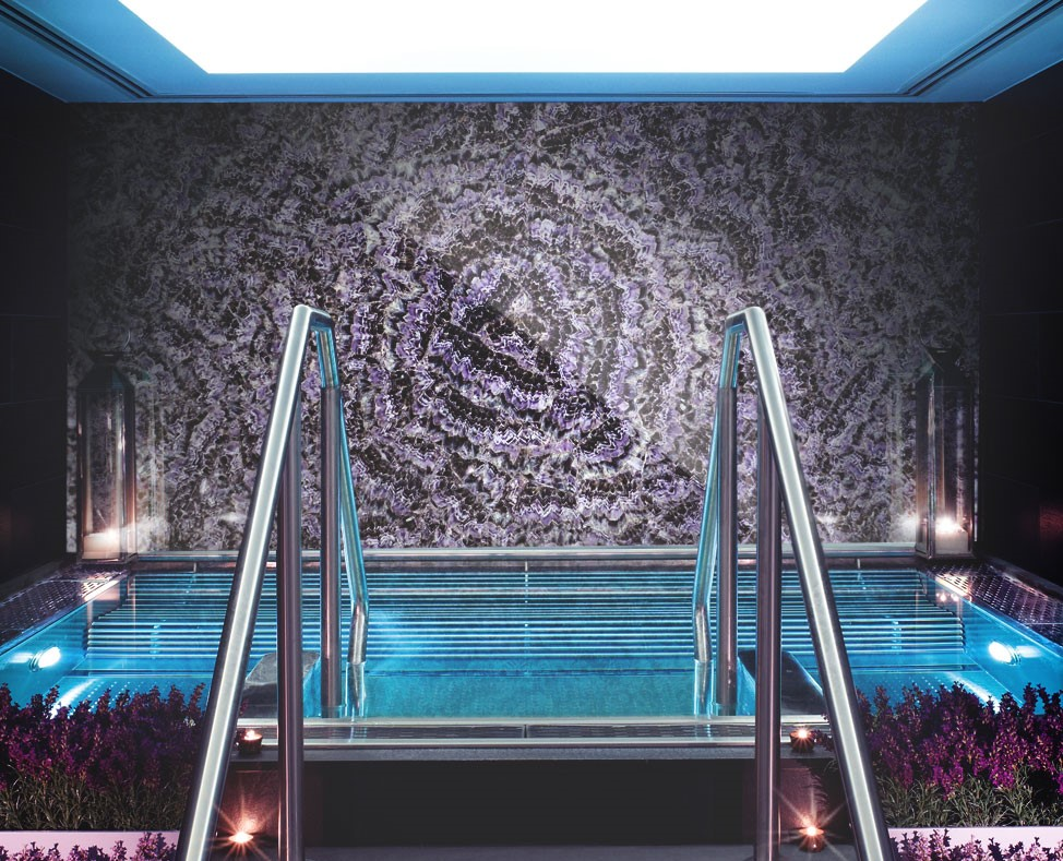 Amethyst feature wall
