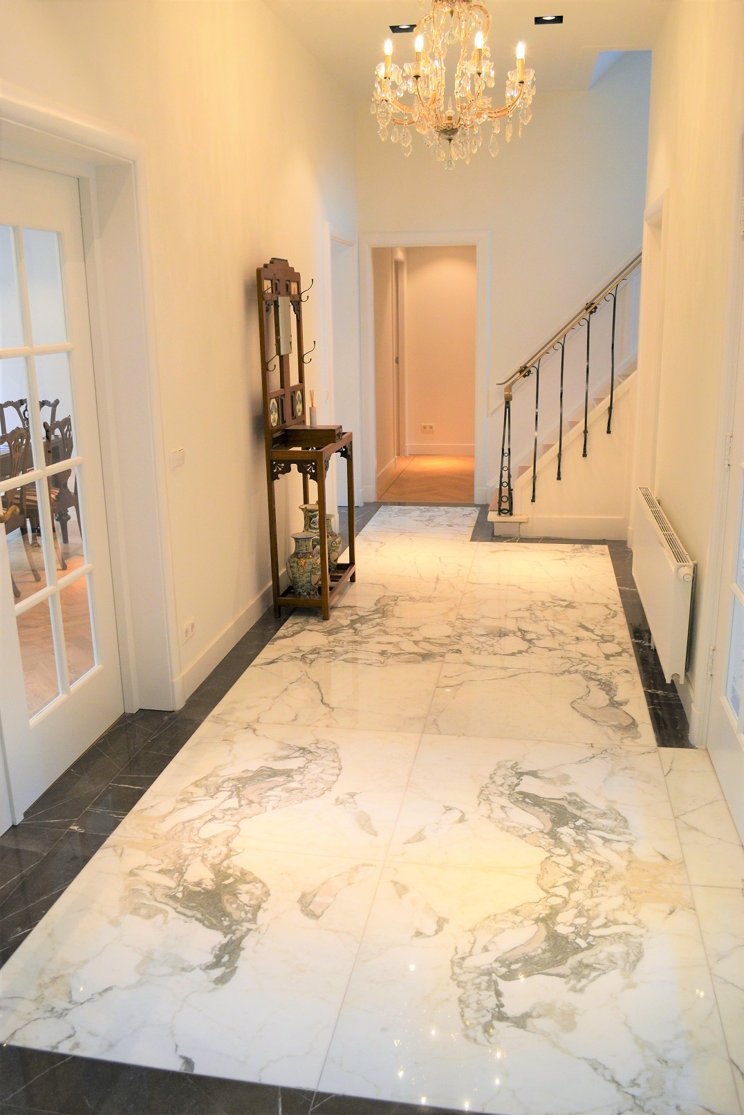 Calacatta marble in luxury villa