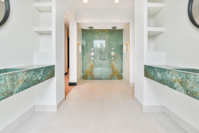 Turquoise Marble bathroom