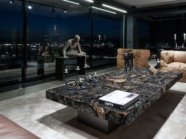 Black Petrified wood luxury table