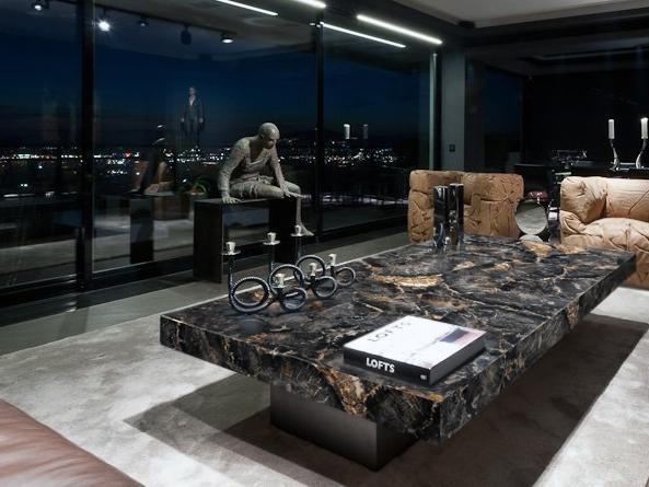 Black Petrified wood luxury table