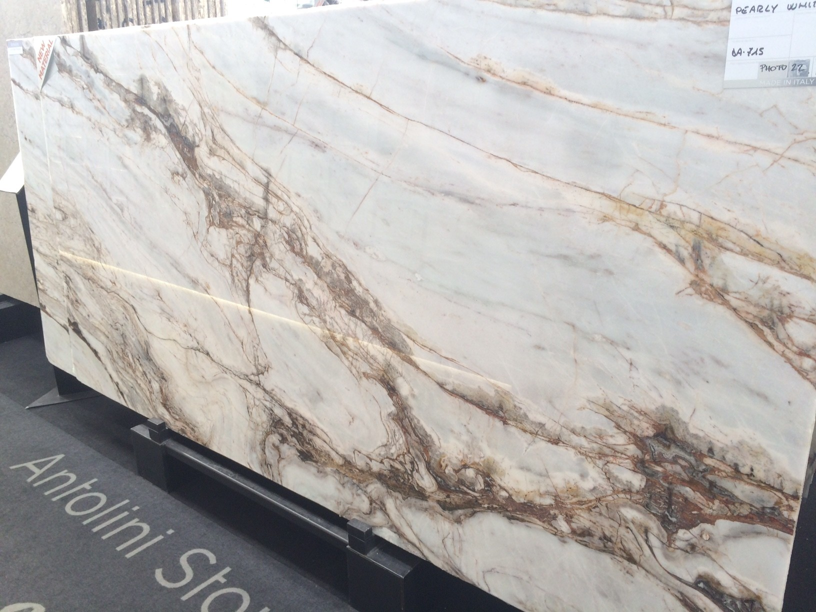 Pearly White marble
