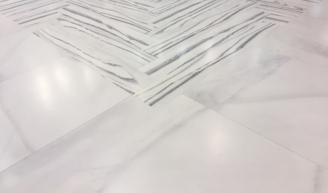 2 types of Bianco Lasa marble
